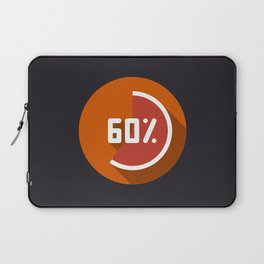 "Illustration ""percentage - 60%"" with long shadow in new modern flat design Laptop Sleeve"