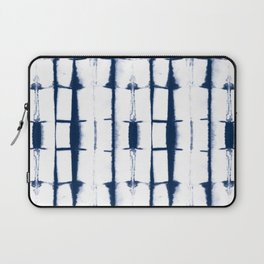 Shibori Stripes 4 Indigo Blue Laptop Sleeve
