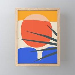 Mid Century Modern Abstract Wall Art Print, Yellow And Black Abstract Print, Modern Retro Art, Livin Framed Mini Art Print