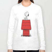 snoopy Long Sleeve T-shirts featuring Snoopy by Simple Touch Apparel