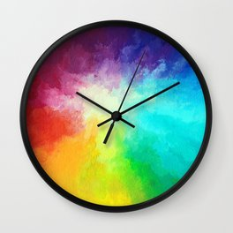 Cloudburst Wall Clock