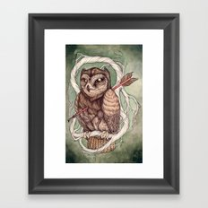 Wisdom Wounded by Folly Framed Art Print