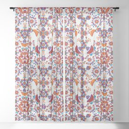 Garden groove Sheer Curtain