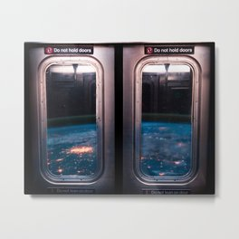 Commute to Mars Metal Print