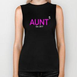 Aunt Again X5 Established 2017 Biker Tank