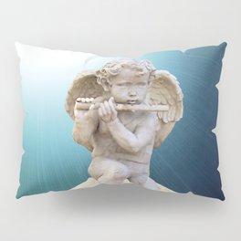 Child Angel Cherub Playing a Flute on Moon A260 Pillow Sham