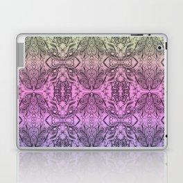 Colorful Gradient Floral Doodle Pattern 2 Laptop & iPad Skin