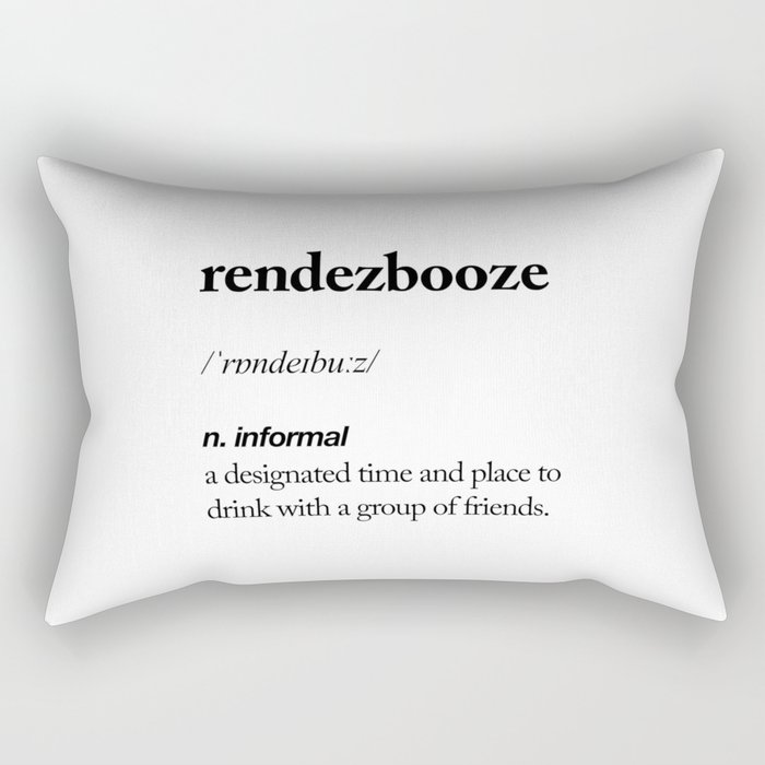 Rendezbooze black and white contemporary minimalism typography design home wall decor bedroom Rectangular Pillow