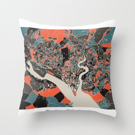 Southampton Multicoloured Print Throw Pillow