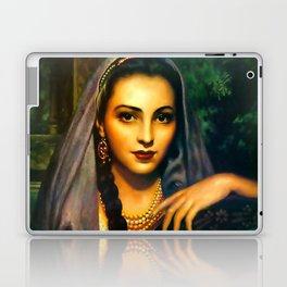 Jesus Helguera Painting of a Calendar Girl with Dark Shawl Laptop & iPad Skin