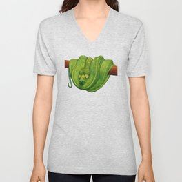 Green Tree Python Unisex V-Neck