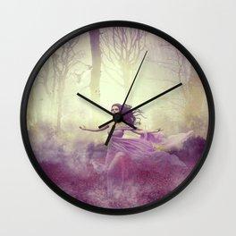 Walk in Poppies Wall Clock
