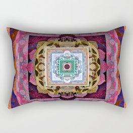 Rustic Antique Tones Sacred Geometry Boho Mandala Rectangular Pillow