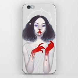 Vampiress - Bloody Version iPhone Skin