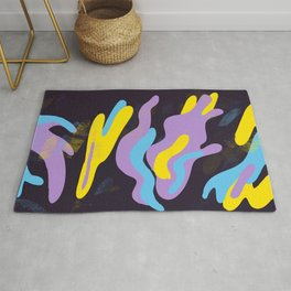 Purple, Blue, & Yellow Abstraction Rug