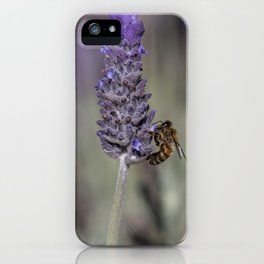 Bee on Lavender iPhone Case