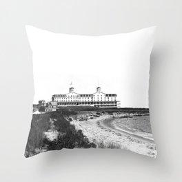 1881 Larkin House Hotel - Watch Hill, Rhode Island, Lighthouse Point Throw Pillow