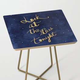Starry Night Sky Art, Celestial Astronomy Stars Quote Art Print Poster, Celestial Nursery Decor Side Table