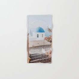 santorini, greece Hand & Bath Towel