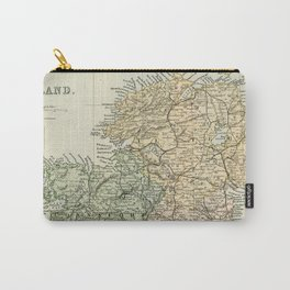 Encyclopedia Retro Map of Northern Ireland Carry-All Pouch