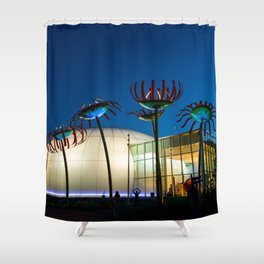 Seattle Glass Flowers Space Needle Shower Curtain