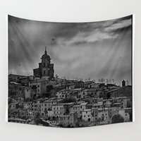 italian Wall Tapestries featuring Italian Townscape by Kenneth Marti