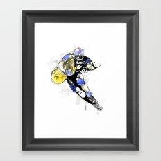 French Horn Football Framed Art Print