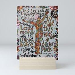Megan Rapinoe Quote Art Mini Art Print