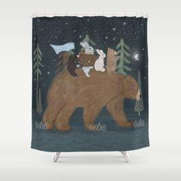 the moon bear Shower Curtain