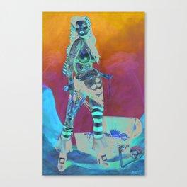 Merciless Tattooed Pirate queen  Canvas Print