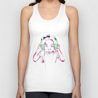 headphones Tank Tops featuring headphones by Heavy Rotation