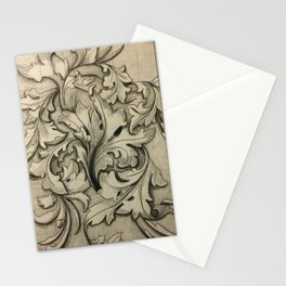 Acanthus Leaves Drawing Stationery Cards