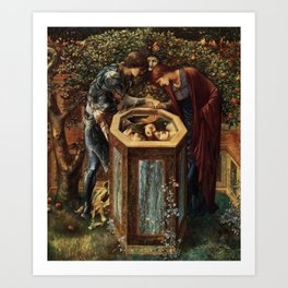 Edward Burne-Jones, The Baleful Head, 1886-87 Art Print