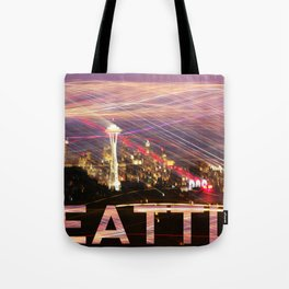 Seattle long exposure  Tote Bag