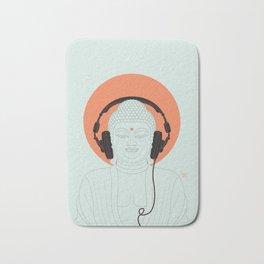 Buddha : Listen to Om! Bath Mat