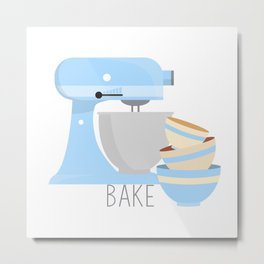 Bake Metal Print