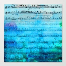 Blue mood music Canvas Print