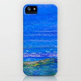 Blue landscape I iPhone Case