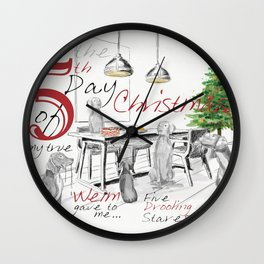 FIFTH DAY OF CHRISTMAS WEIMS Wall Clock