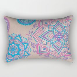 Colorful Mandalas Rectangular Pillow