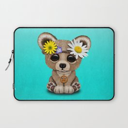 Cute Baby Bear Hippie Laptop Sleeve