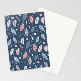 A Frolic Of Flowers And Leaves In A Perfectly Pretty Pastel Pattern Stationery Cards