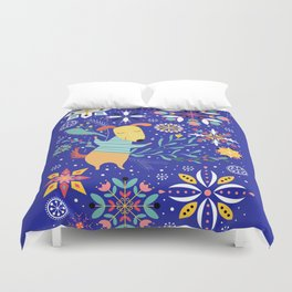 Happy Dog Year Duvet Cover