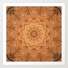 Wooden star ring kaleidoscope Art Print