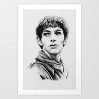 merlin Art Prints featuring Merlin by Anna Tromop Illustration