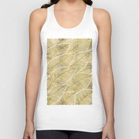 tropical Tank Tops featuring Tropical Gold by Cat Coquillette