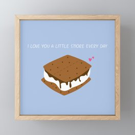 A LITTLE S'MORE EVERY DAY Framed Mini Art Print
