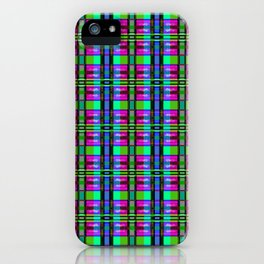 TV Plaid iPhone Case