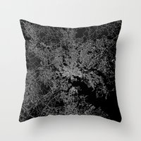 maryland Throw Pillows featuring Baltimore map Maryland by Line Line Lines