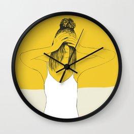 Yellow Winter Wall Clock
